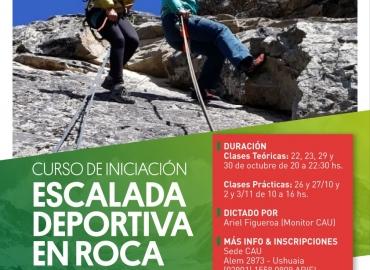 CURSO DE ESCALADA DEPORTIVA EN ROCA