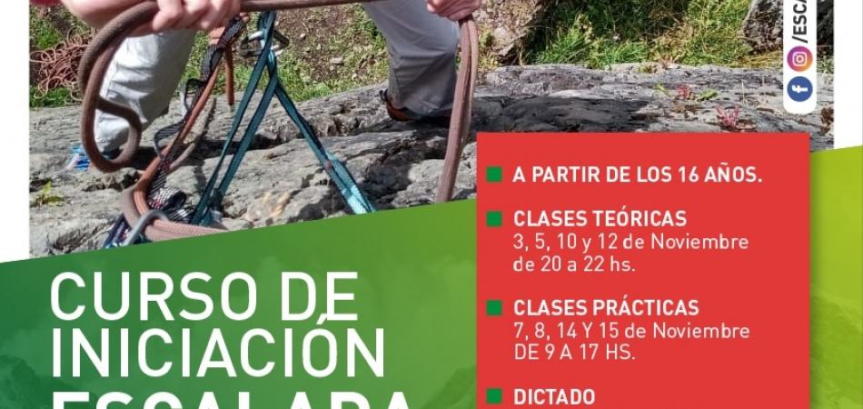 CURSO DE INICIACIÓN A LA ESCALADA DEPORTIVA EN ROCA